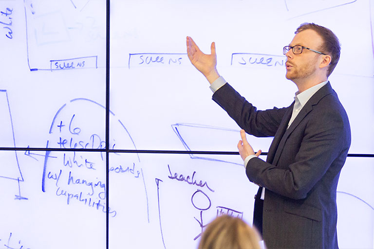 Andy Buchenot teaching in the Idea Garden.